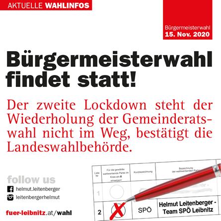 TEAM BÜRGERMEISTER Leitenberger - Aktuelle WAHLINFOS
