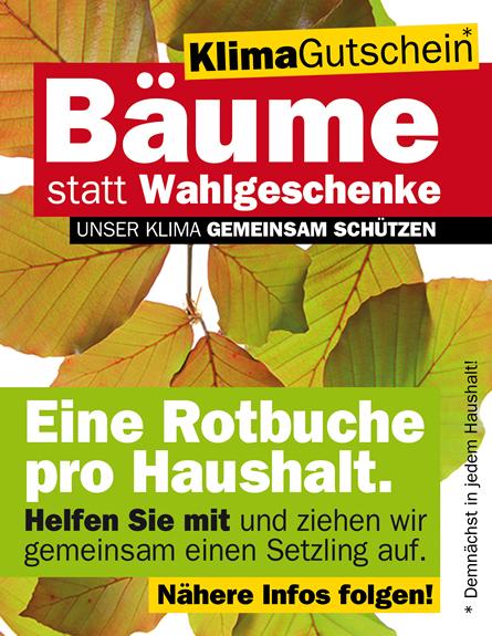 TEAM BÜRGERMEISTER Leitenberger - Bäume statt Wahlgeschenke