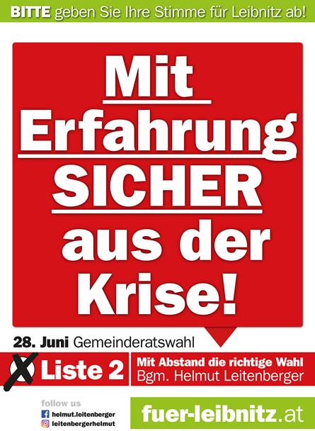 TEAM BÜRGERMEISTER Leitenberger - Mit Erfahrung sicher aus der Krise!